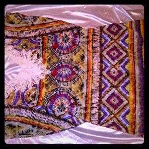 Tie Dye Top Flutter sleeve Soft Cotton